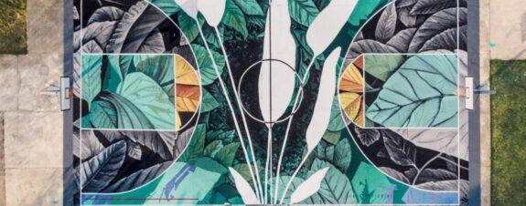 Fabio Petani presenta mural «Dióxido de carbono y Calathea Makoyana»