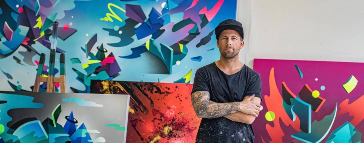 Mikael B presenta su exposición «Flow State» en Maddox Gallery