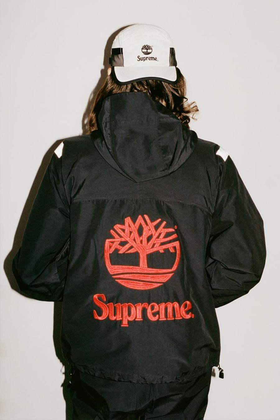 Indumentaria de la colección Supreme x Timberland