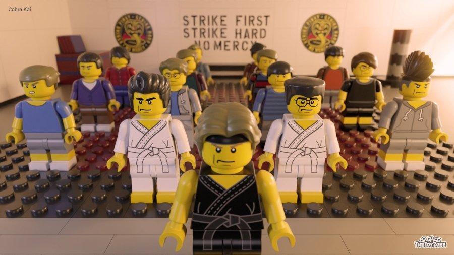 Escena recreada con Legos