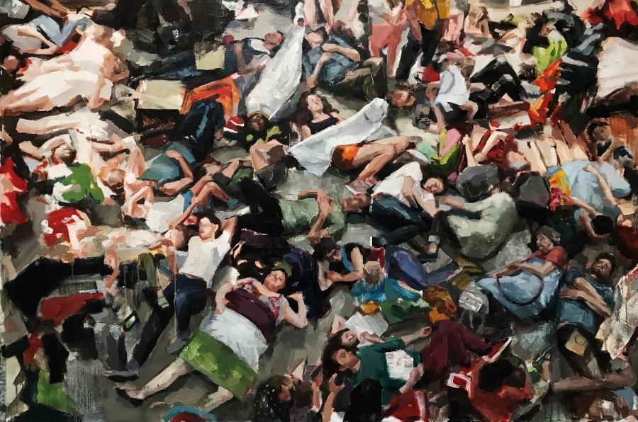 La_Causa_Helen_Bur_Rebellion, 110 x 166 cm, Oil on Linen,2021