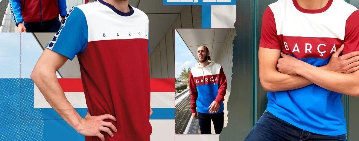Color Block y Tape, las nuevas colecciones de ropa del FC Barcelona
