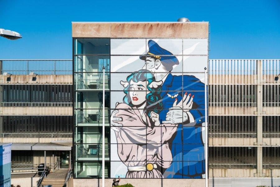 Mural por DFace en Suecia