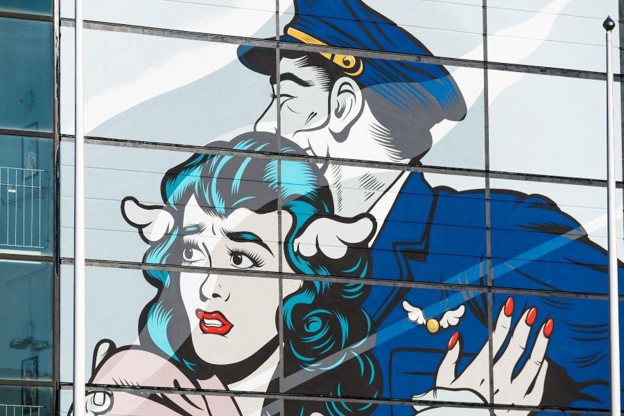 El mural celebra el 400 aniversario de Gotemburgo
