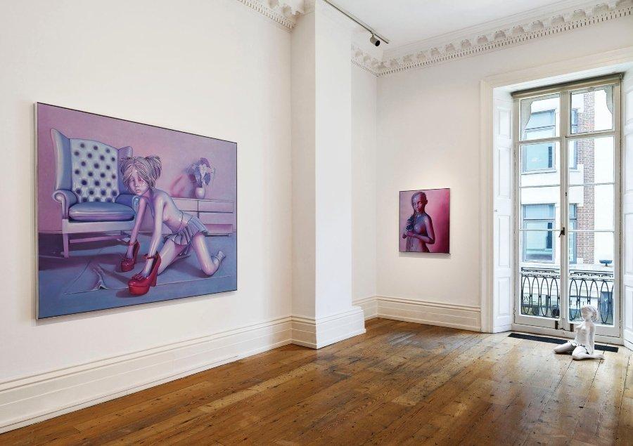 Nina, 2020, oil on canvas, 36h × 30w in. (91.44h × 76.20w cm)
