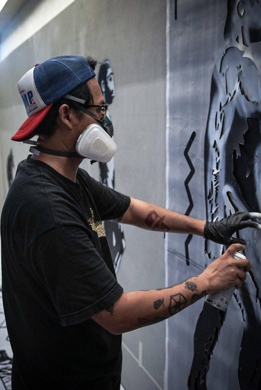 Street art por Headache Stencil
