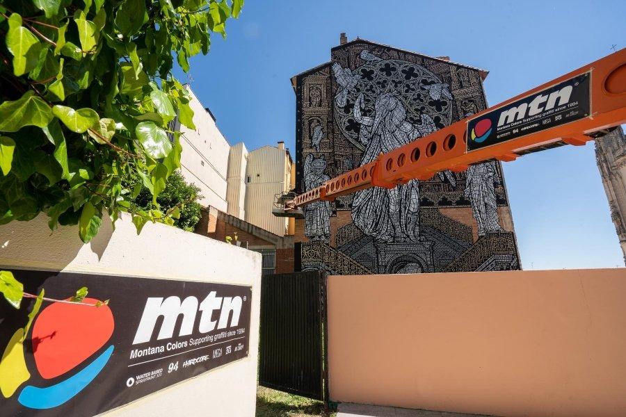 """Mural """" Mímesis, seres y lugares"""""""