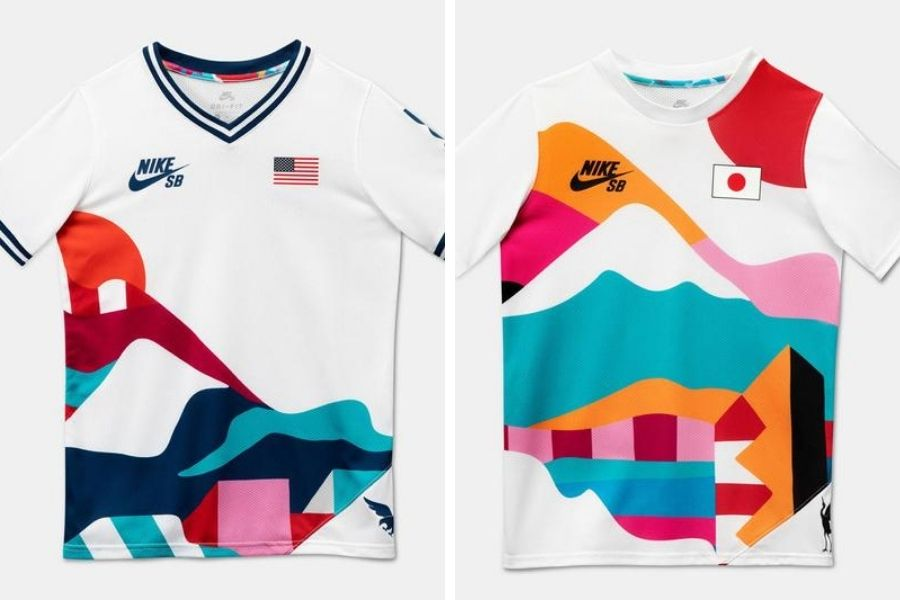 Uniforme de skateboarding para los Juegos Olímpicos Tokio 2021