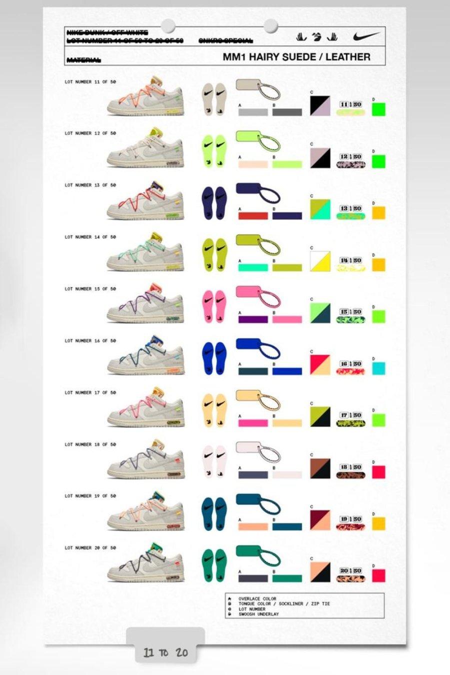 """Colección """"The 50"""" por Off-White y Nike"""