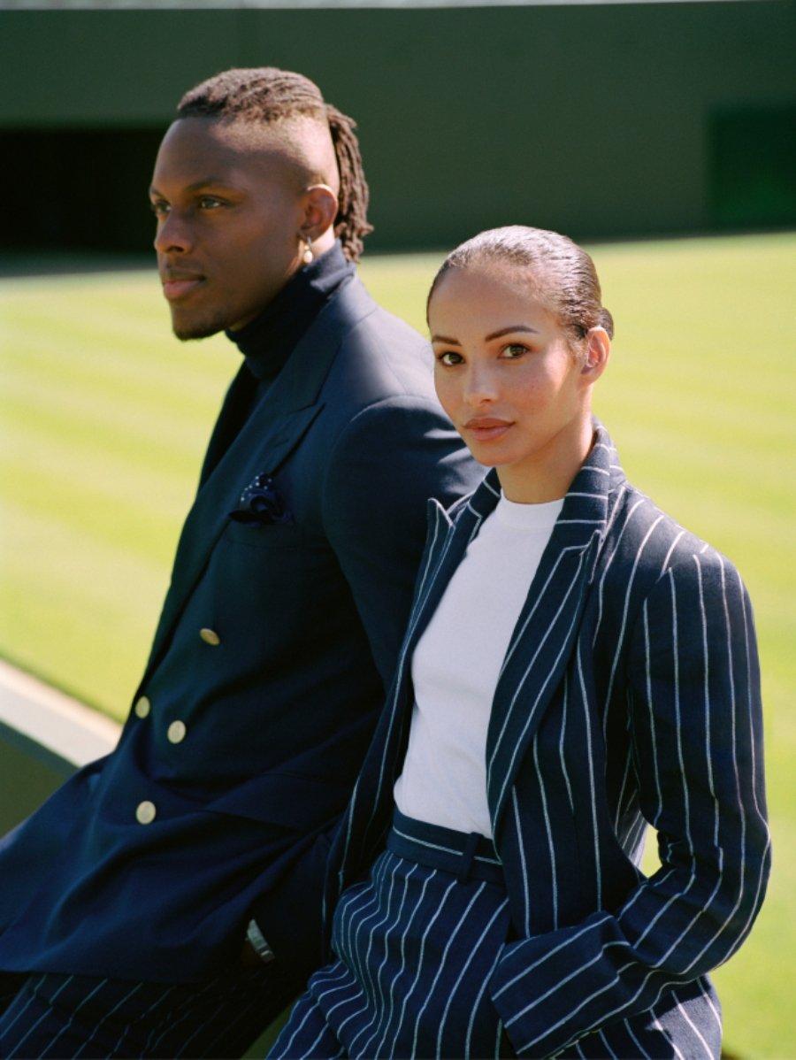 Maro Itoje y Francesca Hayward aparecen en la nueva campaña de Ralph Lauren Wimbledon