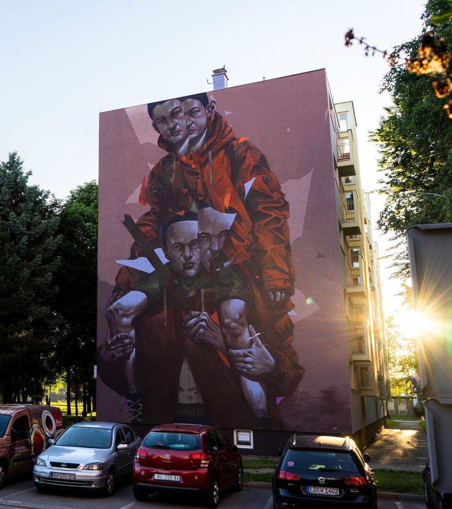 "Mural ""Inseperable"" en Croacia por Sr Woodland"
