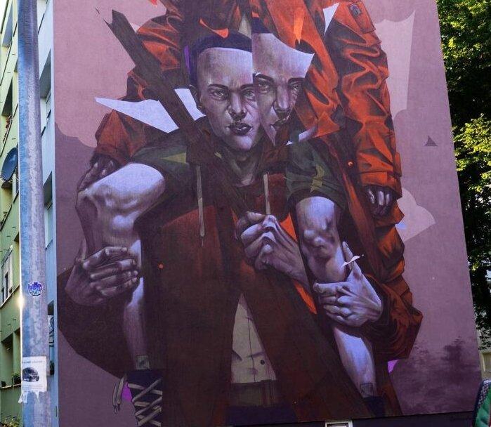 """Mural """"Inseperable"""" en Croacia"""