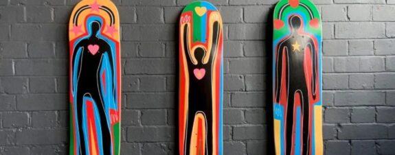 Adam Neate y su nueva colección de patinetas Guest Art Project