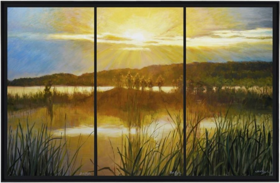 Marsh at Sunset Triptych, 2020