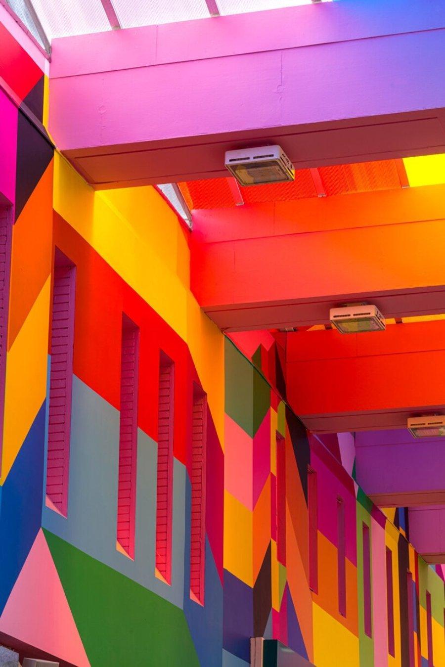 """Instalación """"Endless Ribbon"""" de Morag Myerscough"""