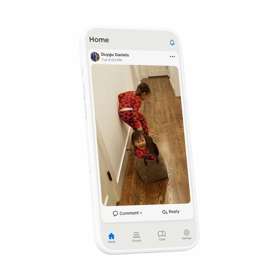 Aspecto de la nueva aplicación HalloApp