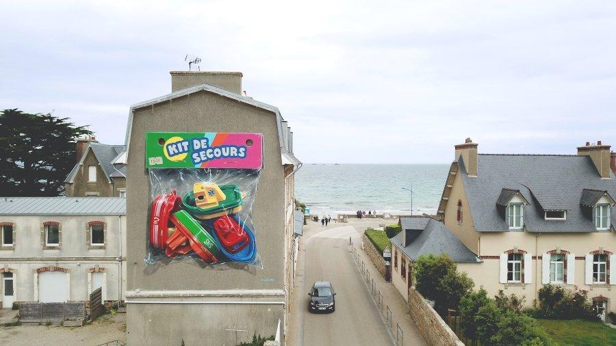 Mural de Leon Keer en Francia