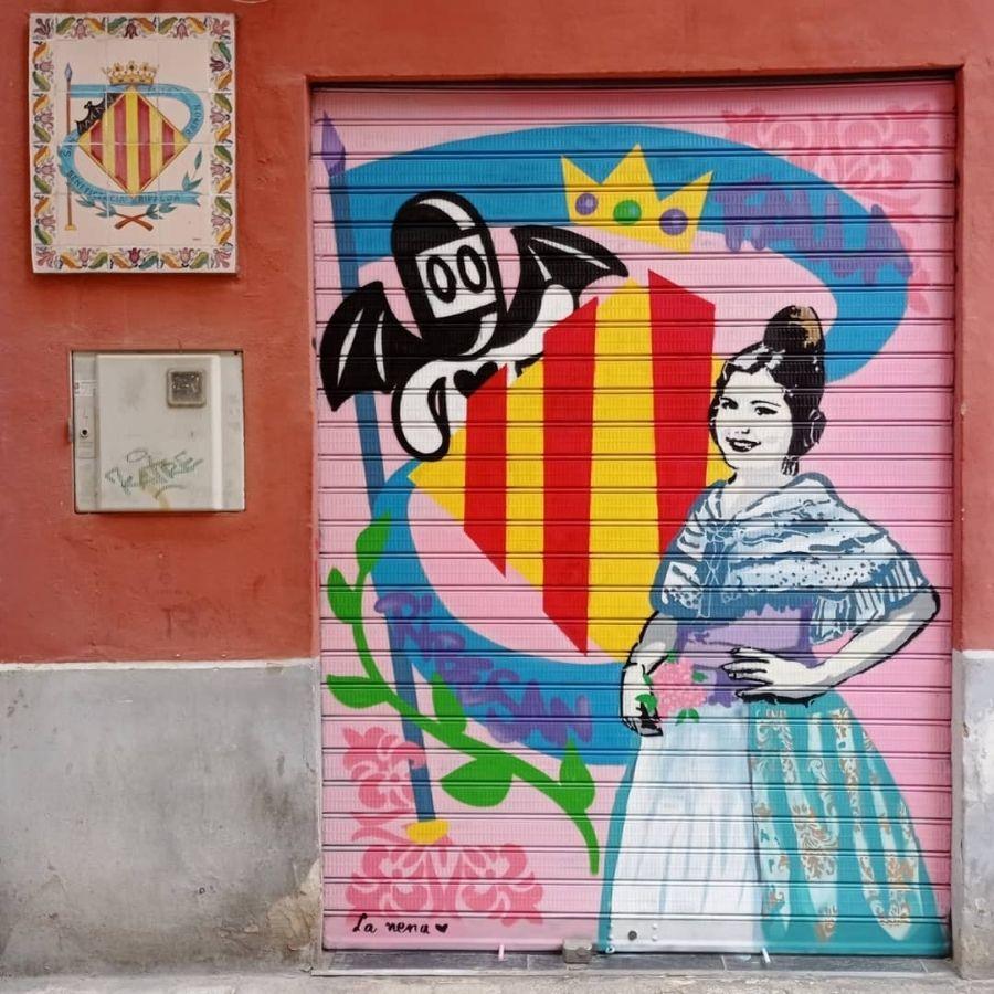 Street art de la Nena Wapa
