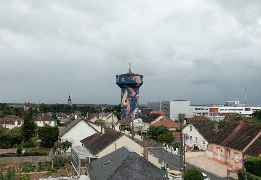 """Mura """"Eau de Loire"""" en Francia por Taquen"""