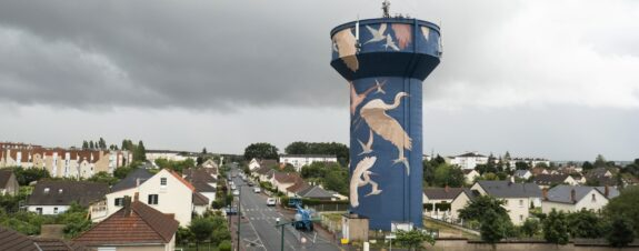 Taquen presentó su nuevo mural en Gien, Francia