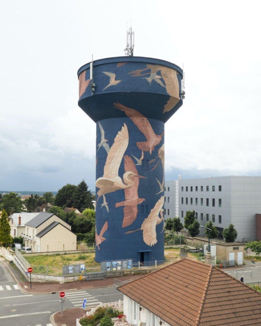 """Mura """"Eau de Loire"""" en Francia"""