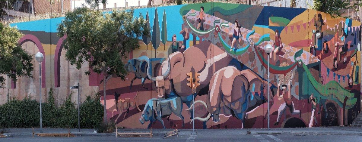 B Murals y Franco Fasoli presentan el mural «TIME»
