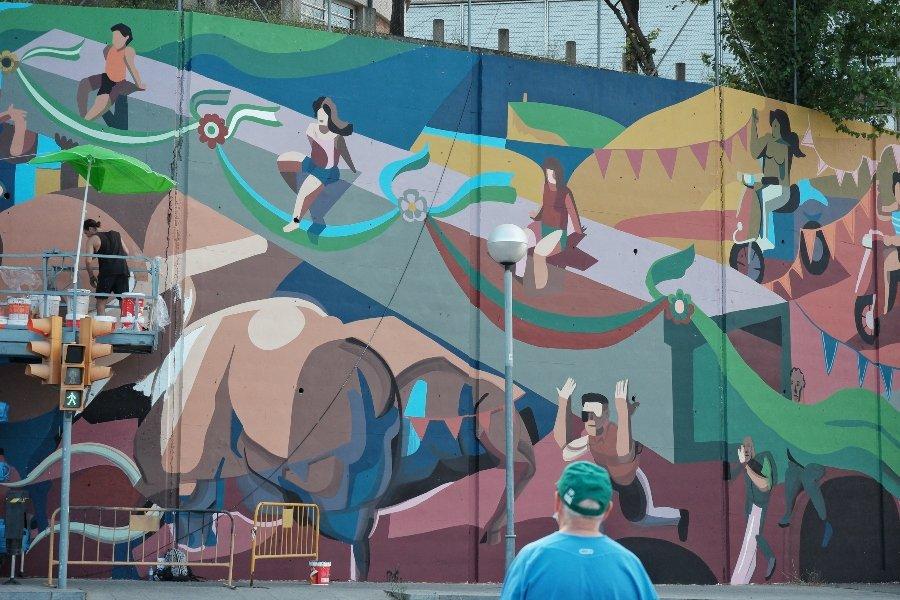 """Mural """"Time"""" por Franco Fassoli"""