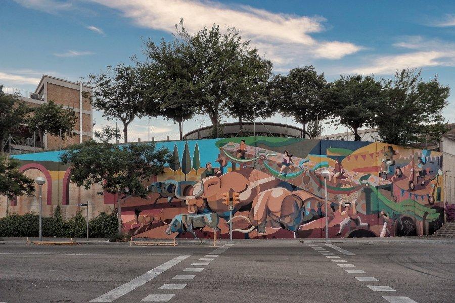 "Mural ""Time"" por Franco Fassoli y B Murals"