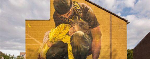 Case Maclaim presentó un nuevo mural en la ciudad de Breda