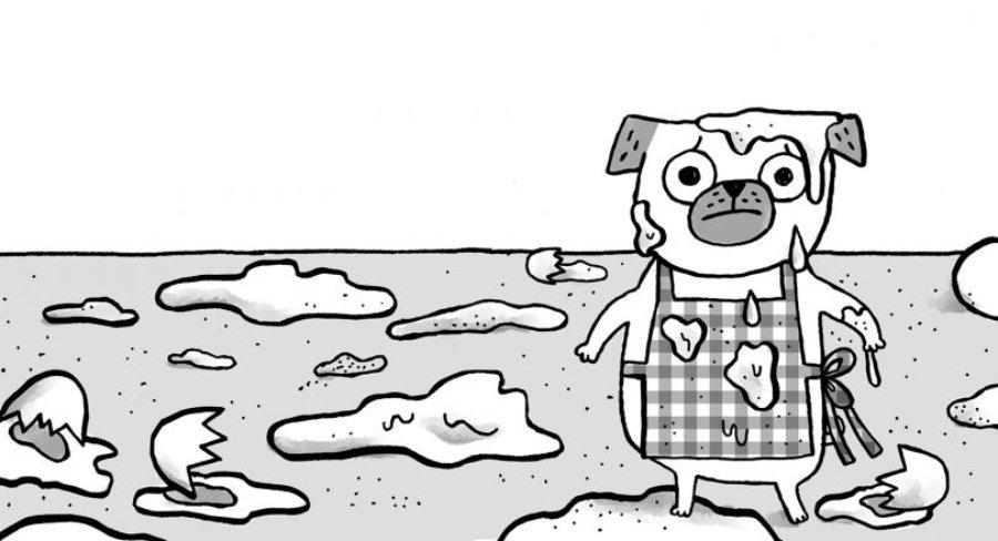 Ilustración de pugs