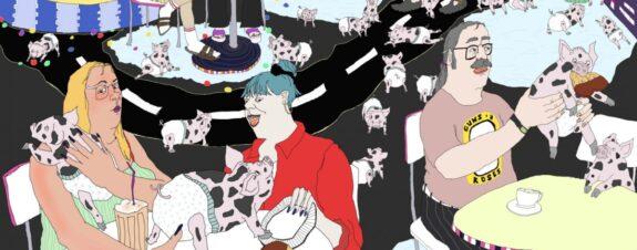 Johanna Ploch y sus ilustraciones grotescas sobre la monotonía