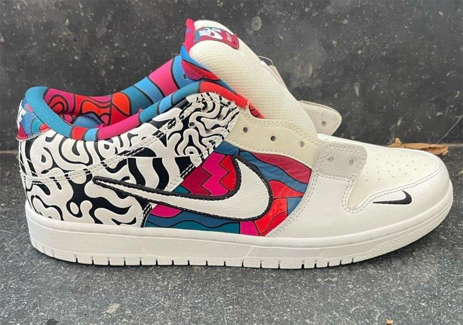 Sneakers de la colección Parra x Nike SB Dunk Low