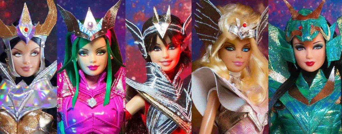 Saint Seiya y Barbie se unen para presentar esta colección de muñecas