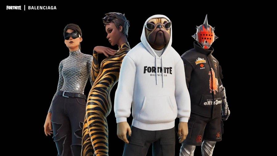 Prendas de la casa de moda en los personajes del videojuego