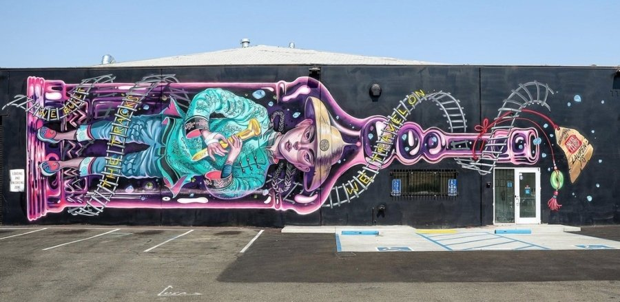 Mural de Squid Licker en Sacramento