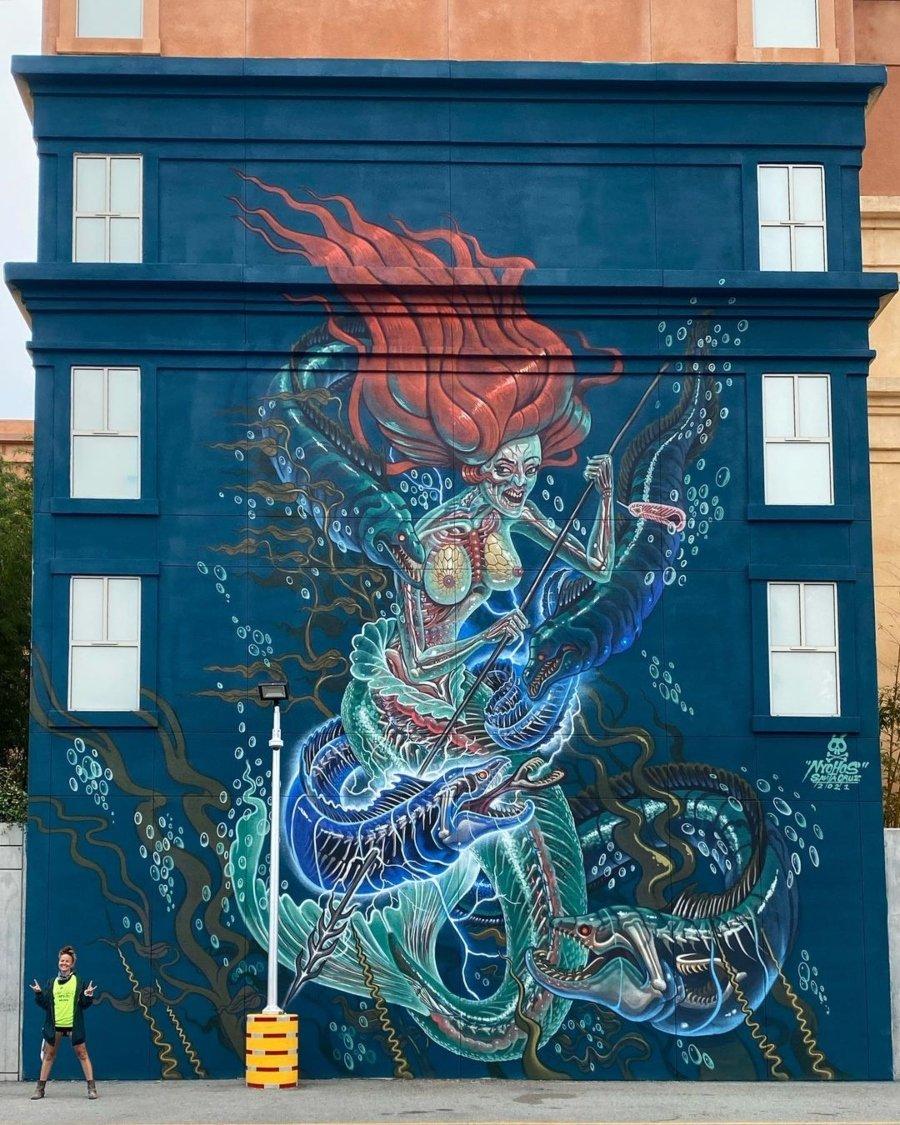 Mural de Nychos para Seawalls