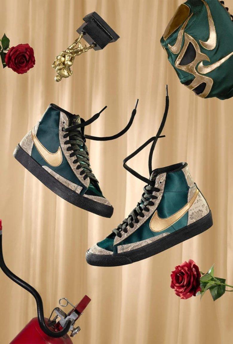 La lucha libre quedó inmortalizada en la nueva colección de Nike