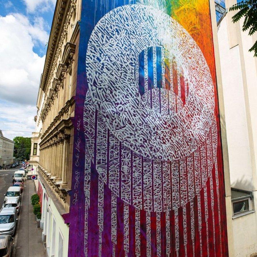 Proceso creativo de Said Dokins para su nuevo mural