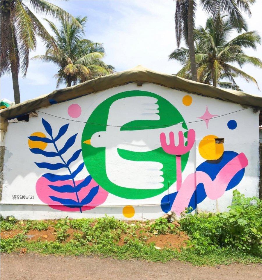 Mural de Yessiow en India