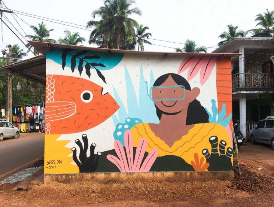 Mural Bloom en India